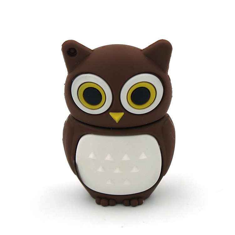 manufacture OWL cartoon pvc usb, Cheap customized soft PVC pen drive, cheapest customize pvc usb flash drive