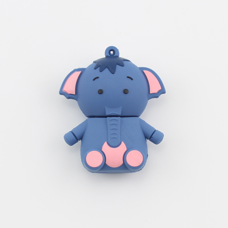 manufacture Elephant cartoon pvc usb, Cheap customized soft PVC pen drive, cheapest customize pvc usb flash drive