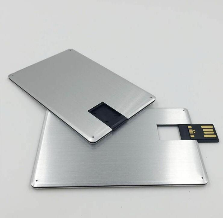 USB Flash Drive 16GB 16G Metal Credit Card Shape USB 2.0 Pendrive Flash Memory Stick Pen Drive Disk title=