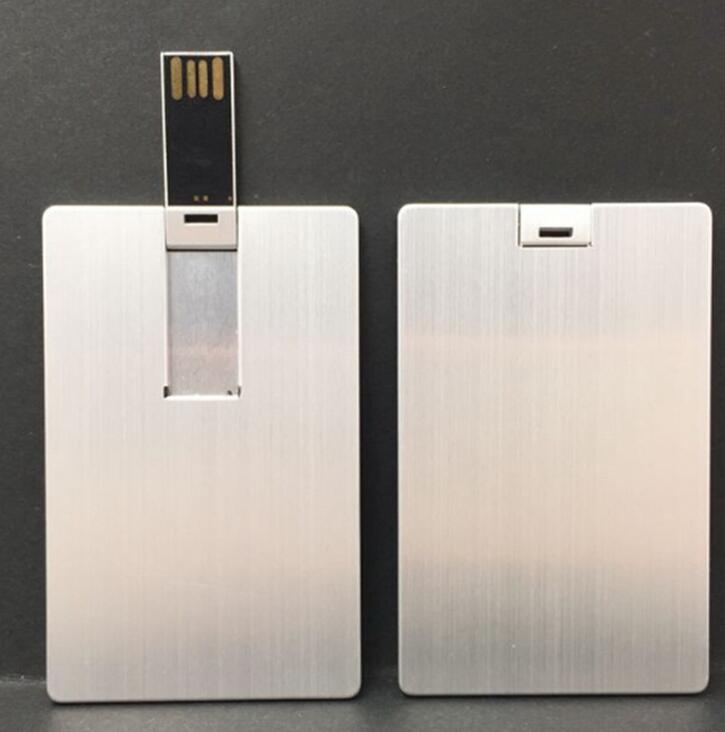 USB Flash Drive 16GB 16G Metal Credit Card Shape USB 2.0 Pendrive Flash Memory Stick Pen Drive Disk
