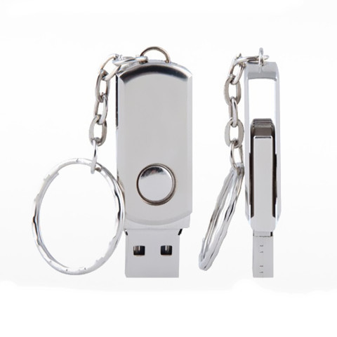Metal 1GB-64 GB Swivel USB 2.0 Flash Drives Data Memory Pen Stick Drive