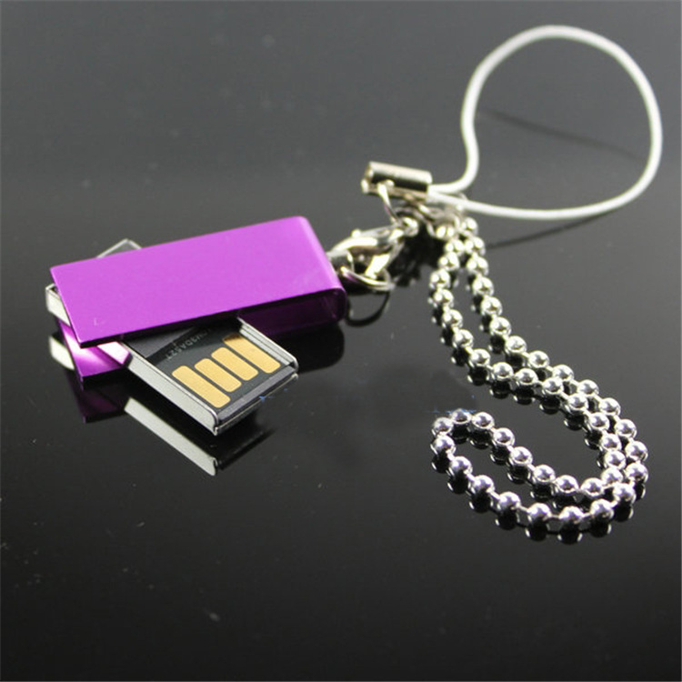 Hot Mini Swivel Metal USB 2.0 4GB-32GB flash drive memory stick genuine pendrive title=
