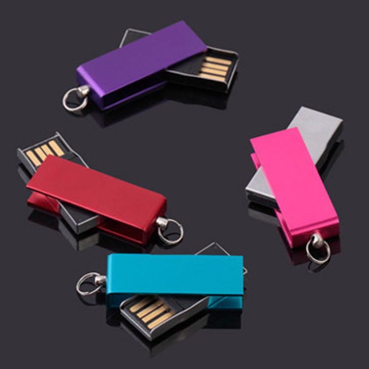 Hot Mini Swivel Metal USB 2.0 4GB-32GB flash drive memory stick genuine pendrive