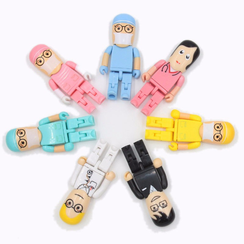 Doctor series  USB 2.0 custom plastic USB,Bulk buy USB flash memory,Wholesale OEM print logo pendrive title=