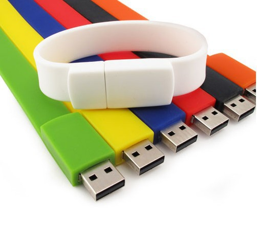 Promotional Custom Usb Bracelet Wristband Usb Flash with Logo title=